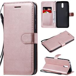 Retro Greek Classic Smooth PU Leather Wallet Phone Case for Nokia 2.3 - Rose Gold