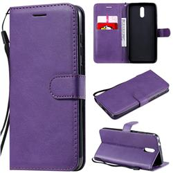 Retro Greek Classic Smooth PU Leather Wallet Phone Case for Nokia 2.3 - Purple