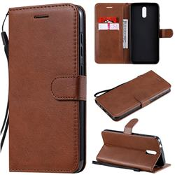 Retro Greek Classic Smooth PU Leather Wallet Phone Case for Nokia 2.3 - Brown