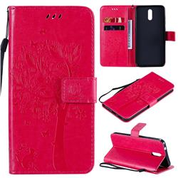Embossing Butterfly Tree Leather Wallet Case for Nokia 2.3 - Rose