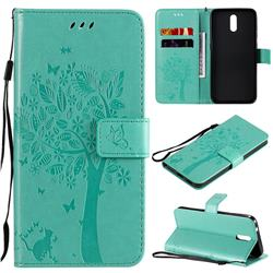 Embossing Butterfly Tree Leather Wallet Case for Nokia 2.3 - Cyan