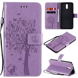 Embossing Butterfly Tree Leather Wallet Case for Nokia 2.3 - Violet