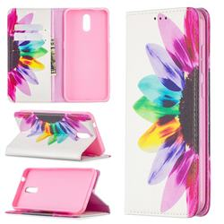 Sun Flower Slim Magnetic Attraction Wallet Flip Cover for Nokia 2.3