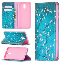 Plum Blossom Slim Magnetic Attraction Wallet Flip Cover for Nokia 2.3