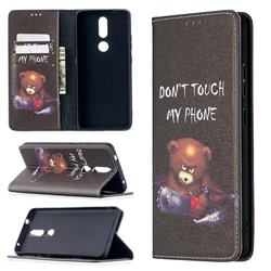 Chainsaw Bear Slim Magnetic Attraction Wallet Flip Cover for Nokia 2.4