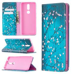 Plum Blossom Slim Magnetic Attraction Wallet Flip Cover for Nokia 2.4