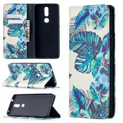 Blue Leaf Slim Magnetic Attraction Wallet Flip Cover for Nokia 2.4