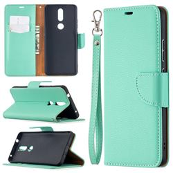 Classic Luxury Litchi Leather Phone Wallet Case for Nokia 2.4 - Green