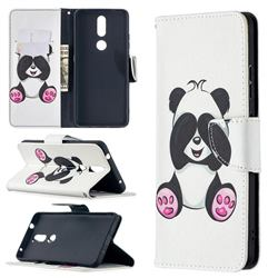 Lovely Panda Leather Wallet Case for Nokia 2.4