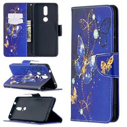 Purple Butterfly Leather Wallet Case for Nokia 2.4
