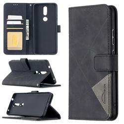 Binfen Color BF05 Prismatic Slim Wallet Flip Cover for Nokia 2.4 - Black