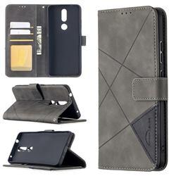 Binfen Color BF05 Prismatic Slim Wallet Flip Cover for Nokia 2.4 - Gray