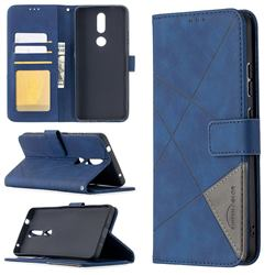 Binfen Color BF05 Prismatic Slim Wallet Flip Cover for Nokia 2.4 - Blue