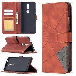 Binfen Color BF05 Prismatic Slim Wallet Flip Cover for Nokia 2.4 - Brown