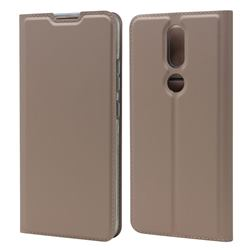 Ultra Slim Card Magnetic Automatic Suction Leather Wallet Case for Nokia 2.4 - Rose Gold
