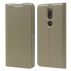 Ultra Slim Card Magnetic Automatic Suction Leather Wallet Case for Nokia 2.4 - Champagne