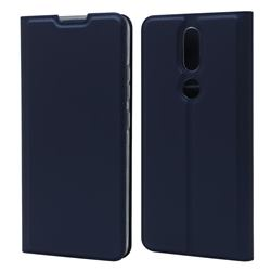 Ultra Slim Card Magnetic Automatic Suction Leather Wallet Case for Nokia 2.4 - Royal Blue