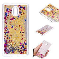 Glitter Sand Mirror Quicksand Dynamic Liquid Star TPU Case for Nokia 3 Nokia3 - Yellow