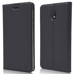 Ultra Slim Card Magnetic Automatic Suction Leather Wallet Case for Nokia 3 Nokia3 - Star Grey