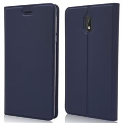 Ultra Slim Card Magnetic Automatic Suction Leather Wallet Case for Nokia 3 Nokia3 - Royal Blue