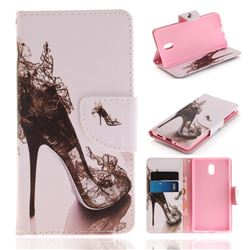 High Heels PU Leather Wallet Case for Nokia 3 Nokia3