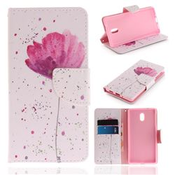 Purple Orchid PU Leather Wallet Case for Nokia 3 Nokia3