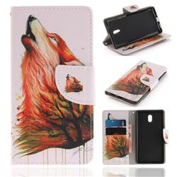 Color Wolf PU Leather Wallet Case for Nokia 3 Nokia3