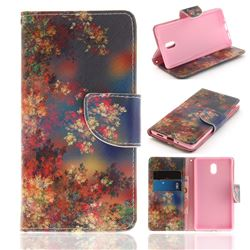Colored Flowers PU Leather Wallet Case for Nokia 3 Nokia3