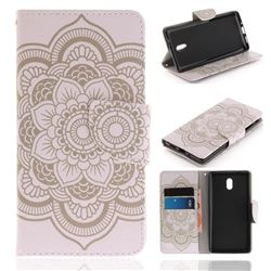 White Flowers PU Leather Wallet Case for Nokia 3 Nokia3