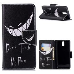 Crooked Grin Leather Wallet Case for Nokia 3.1