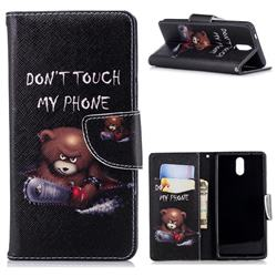Chainsaw Bear Leather Wallet Case for Nokia 3.1