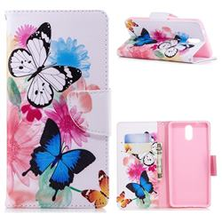 Vivid Flying Butterflies Leather Wallet Case for Nokia 3.1