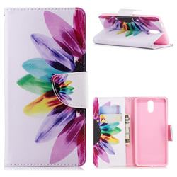 Seven-color Flowers Leather Wallet Case for Nokia 3.1