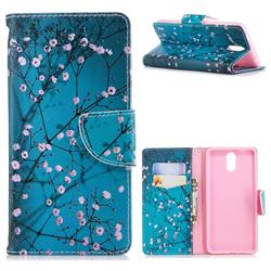 Blue Plum Leather Wallet Case for Nokia 3.1