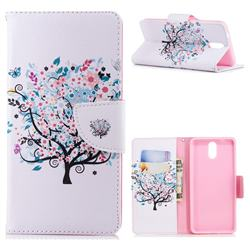 Colorful Tree Leather Wallet Case for Nokia 3.1