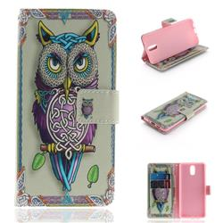 Weave Owl PU Leather Wallet Case for Nokia 3.1