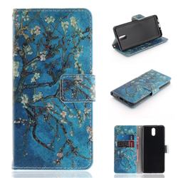 Apricot Tree PU Leather Wallet Case for Nokia 3.1