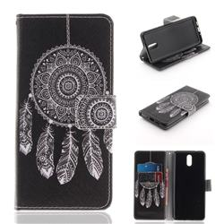 Black Wind Chimes PU Leather Wallet Case for Nokia 3.1