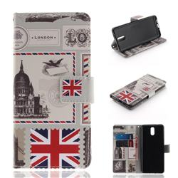 London Envelope PU Leather Wallet Case for Nokia 3.1