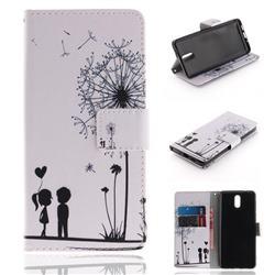 Couple Dandelion PU Leather Wallet Case for Nokia 3.1