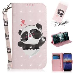 Heart Cat 3D Painted Leather Wallet Phone Case for Nokia 3.1