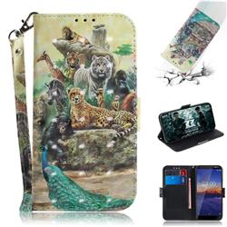 Beast Zoo 3D Painted Leather Wallet Phone Case for Nokia 3.1