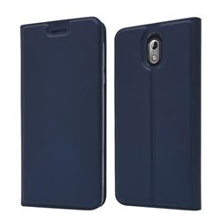 Ultra Slim Card Magnetic Automatic Suction Leather Wallet Case for Nokia 3.1 - Royal Blue