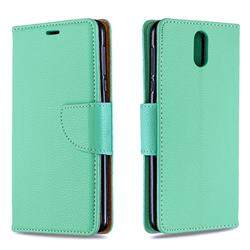 Classic Luxury Litchi Leather Phone Wallet Case for Nokia 3.1 - Green