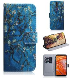 Apricot Tree PU Leather Wallet Case for Nokia 3.1 Plus