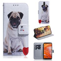 Pug Dog PU Leather Wallet Case for Nokia 3.1 Plus