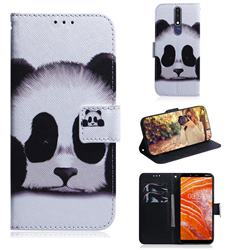 Sleeping Panda PU Leather Wallet Case for Nokia 3.1 Plus