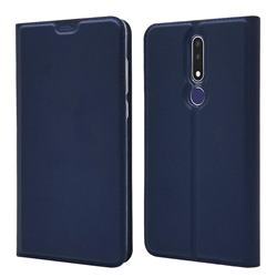 Ultra Slim Card Magnetic Automatic Suction Leather Wallet Case for Nokia 3.1 Plus - Royal Blue