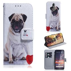 Pug Dog PU Leather Wallet Case for Nokia 3.2