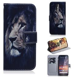 Lion Face PU Leather Wallet Case for Nokia 3.2